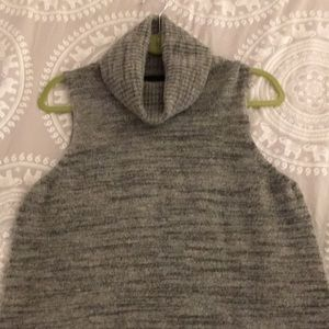 Cynthia Rowley Sweaters - Cynthia Rowley wool mix gray tunic turtleneck